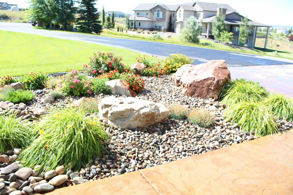 Pruned and Trimmed Plants - Idaho Falls Landscape Maintenance - Pruned And Trimmed Plants Rock Landscape - New Leaf Landscape Design