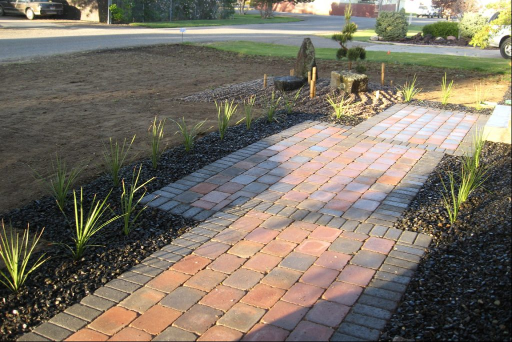 Idaho Falls Enhancement Projects - Idaho Falls Landscape Maintenance - Idaho Falls Stone Walkway - New Leaf Landscape Design And