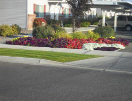 Sidewalk and Flower Beds - Idaho Falls Landscape Maintenance