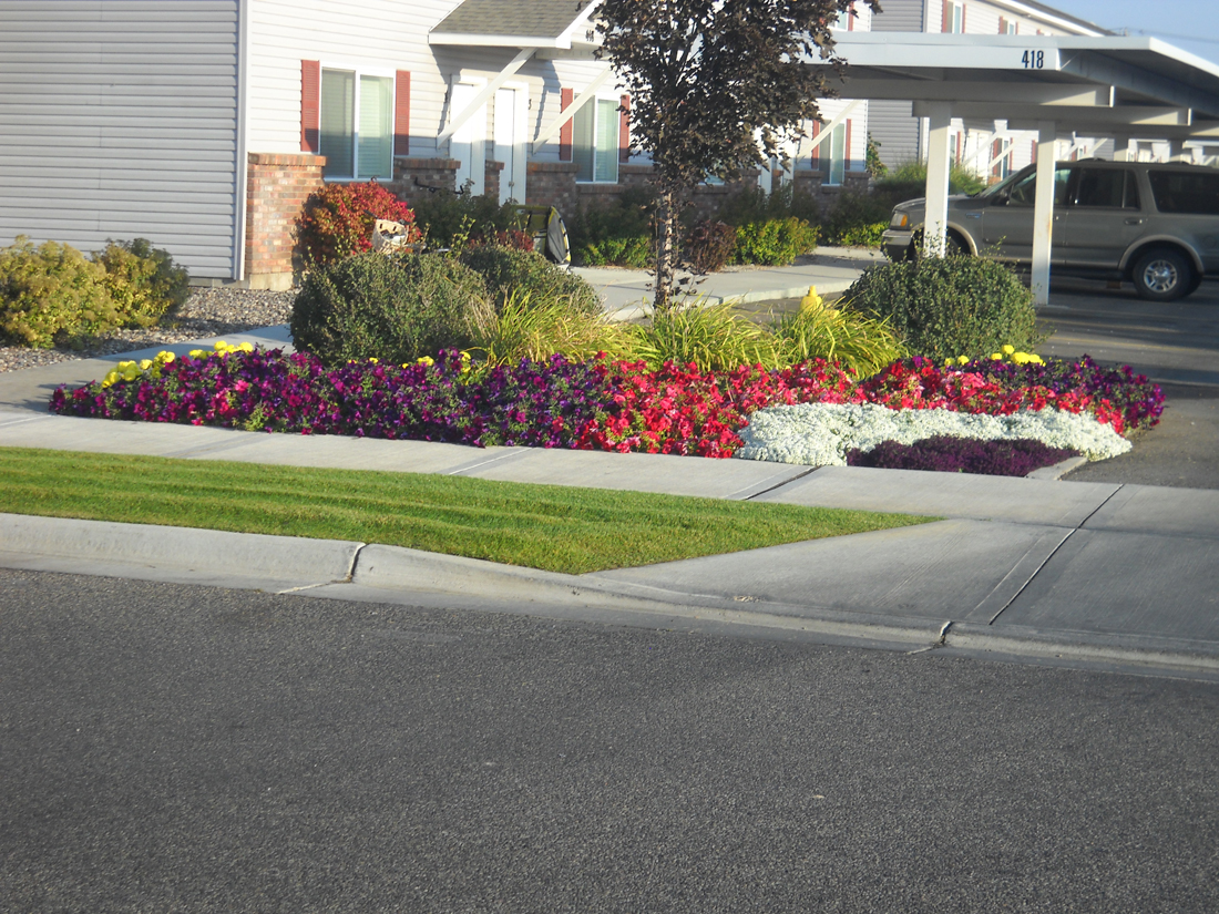 Well Maintained Flowerbed - Idaho Falls landscape Design