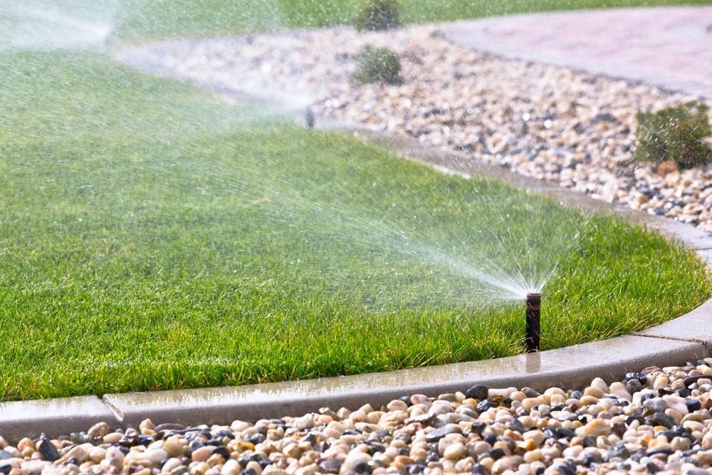 Lawn Sprinkler System - Springtime Landscaping Services