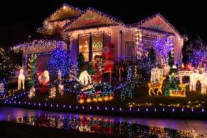 Holiday Light Display - idaho falls lawn care