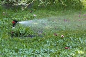 Sprinkler Watering Lawn - Sprinkler Repair Idaho Falls